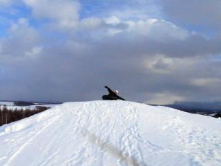 四季彩の丘で雪遊び4