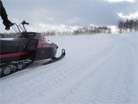 四季彩の丘で雪遊び